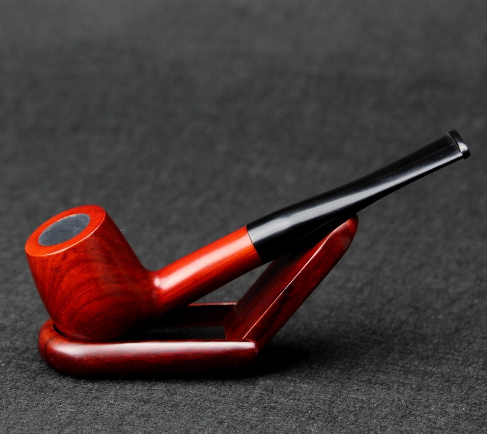 10 Tools Set Red Sandal Wood Smoking Pipe 9mm Filter Wood Pipe Straight Tobacco Pipe SP001