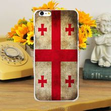 1pcs Georgia Flag Design hard white Skin Case for iphone6 (4.7inch) and iphone6 plus(5.5inch)
