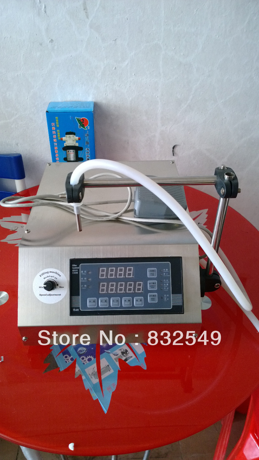 Digital electrical liquids filling machine,water pumping filler,automatic beverage packaging equipment,5L,stainless,warranty(China (Mainland))