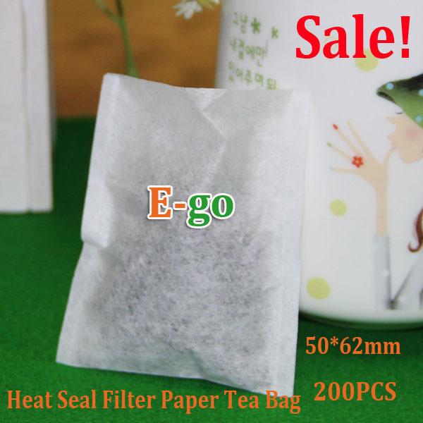 50 X 62mm 200pcs Empty Heat Seal Filter Paper Tea Bags Tea