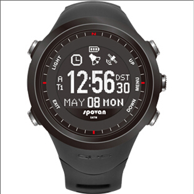 Spovan GL004 Multifunctional Wateproof Sports Watch GPS Fitness 3D Pedometer Military for Promotional gift(China (Mainland))