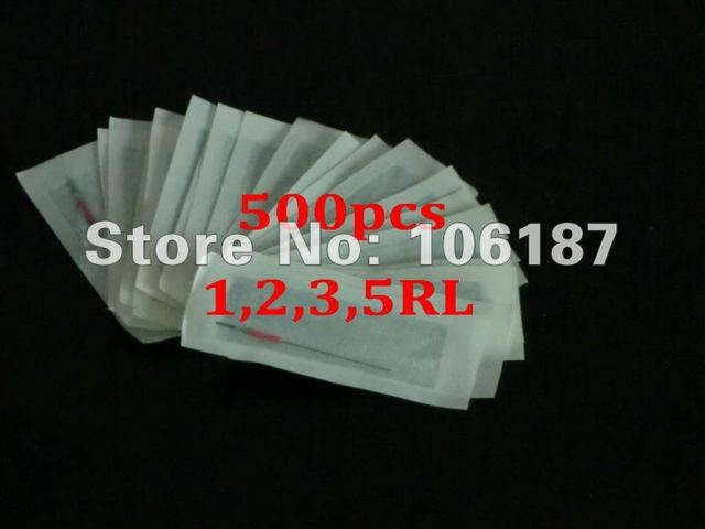 500Pcs 1,2,3,5RL Assorted Size Specilal Permanent Sterilized Makeup Needles for Beauty Supply