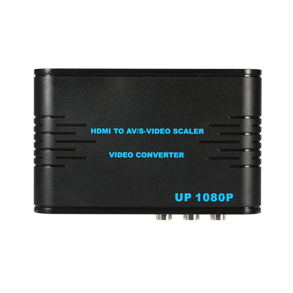 Video Converter HDMI to AV & S-VIDEO FULL HD Converter Adaptor 720p/1080p Scaler Video Converter Hdmi to AV/S US/UK/EU/AU Plug(China (Mainland))