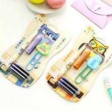 Novelty Colorful Owl Fountain Pen With Paper Clip Stationery Set Student Prize Fod