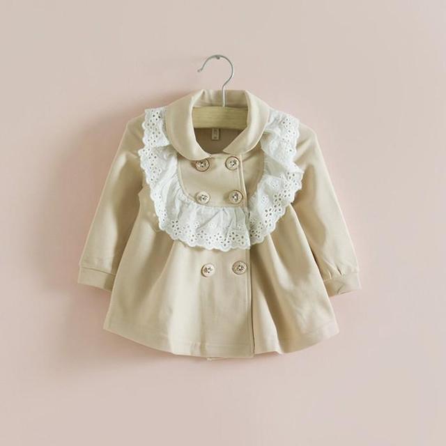 Розничные 2017 детская одежда осень девушки куртки и пиджаки весна осень пальто младенца младенца clothing brand мода дети куртка