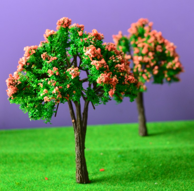 30pcs/lot Model Building Kits  Mixed HO Z Scale Model 4cm Tree for Railroad House Park Street Layout Green landscape Model Trees<br><br>Aliexpress