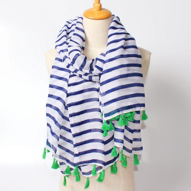Новые бело-сине-полоса шарф весна осень вмс косплей мыс полосатый солнцезащитный крем платок одноклассники подарок бесплатная доставка