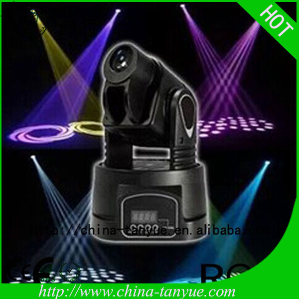 Hot 15W Mini LED Moving Head Spot Light,,Stage Effect Light for Bar,KTV,Disco Party,Hotel,Stage(China (Mainland))