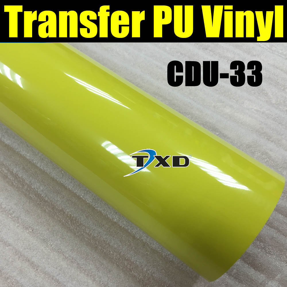 50X100CM/LOT heat transfer PU vinyl for cutting plotter machine using for shirts CDU-33 COLOR(China (Mainland))