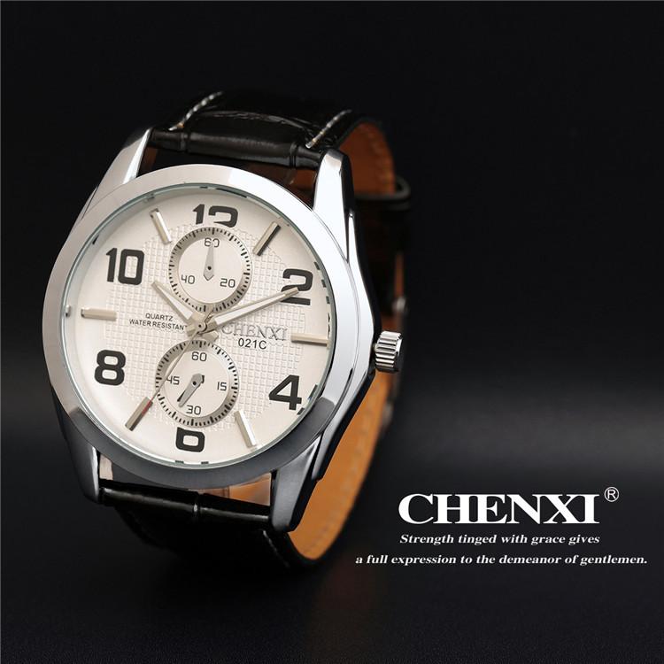 2016 Luxury Brand Chenxi Retro Watch Men Leather Strap Waterproof Sports Wrist Watches Men's Analog Quartz Clock Gift Hour(China (Mainland))