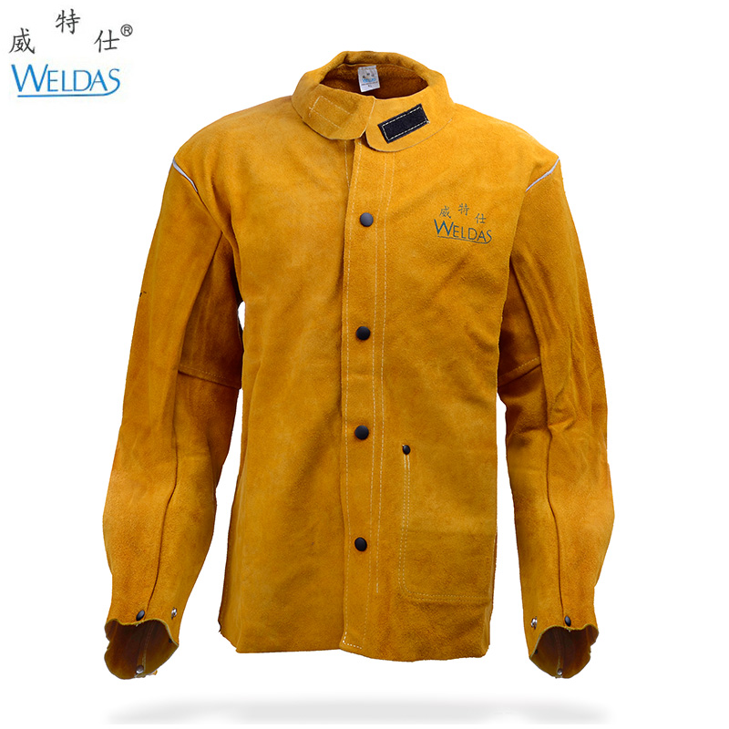 leather welding aprons welding flame retardant clothing cow split leather welding jackets(China (Mainland))