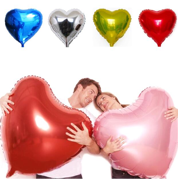 Decorations Balloons Marriage Ballons Wedding Party Happy Birthday Day Love Heart Balloon Foil Air Balloons(China (Mainland))