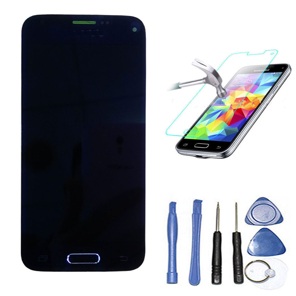 LCD Display Screen Touch Digitizer Assembly with home button for Samsung Galaxy S5 Mini G800f G800 Black +Tools +Tempered glass