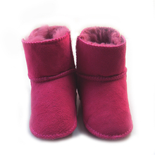 Fur one piece baby shoes 0-1 year old baby boy girl shoes toddler snow boots first walkers soft sole