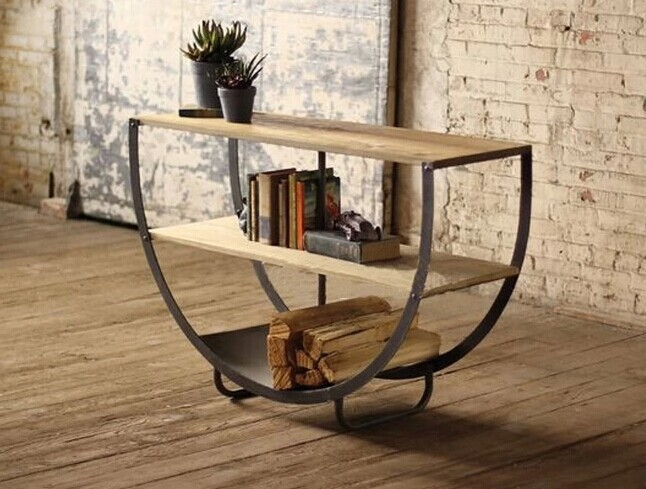 Muebles de madera y hierro materiales de construcci n for Diseno de muebles con madera reciclada