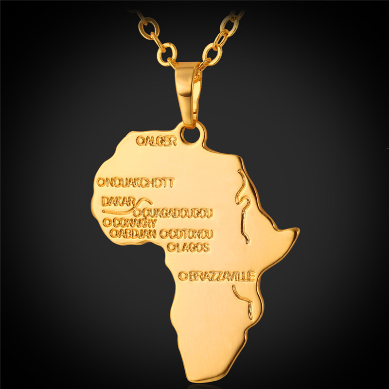 African Necklace Men Jewelry Gift 2015 Fashion New Ethnic 18K Real Gold Plated Necklaces Pendants Women
