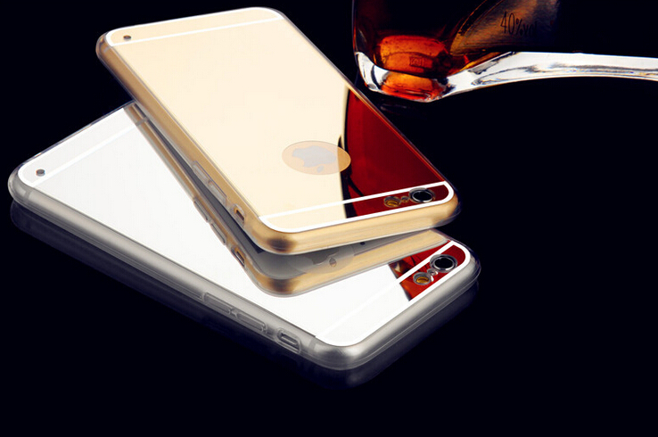 Soft TPU Phone case for iphone 6 4.7 inch electroplating mirror cover luxury For iphone 6 case High quality(China (Mainland))