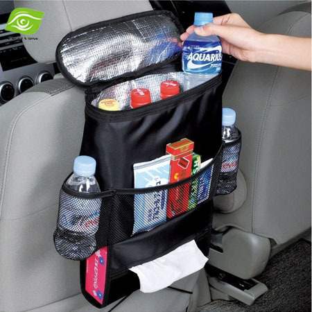 New Promotion Car Accessories Seat Covers Storage Bag Multi Pocket Organizer Chair/Car Seat Back Bags KF371(China (Mainland))