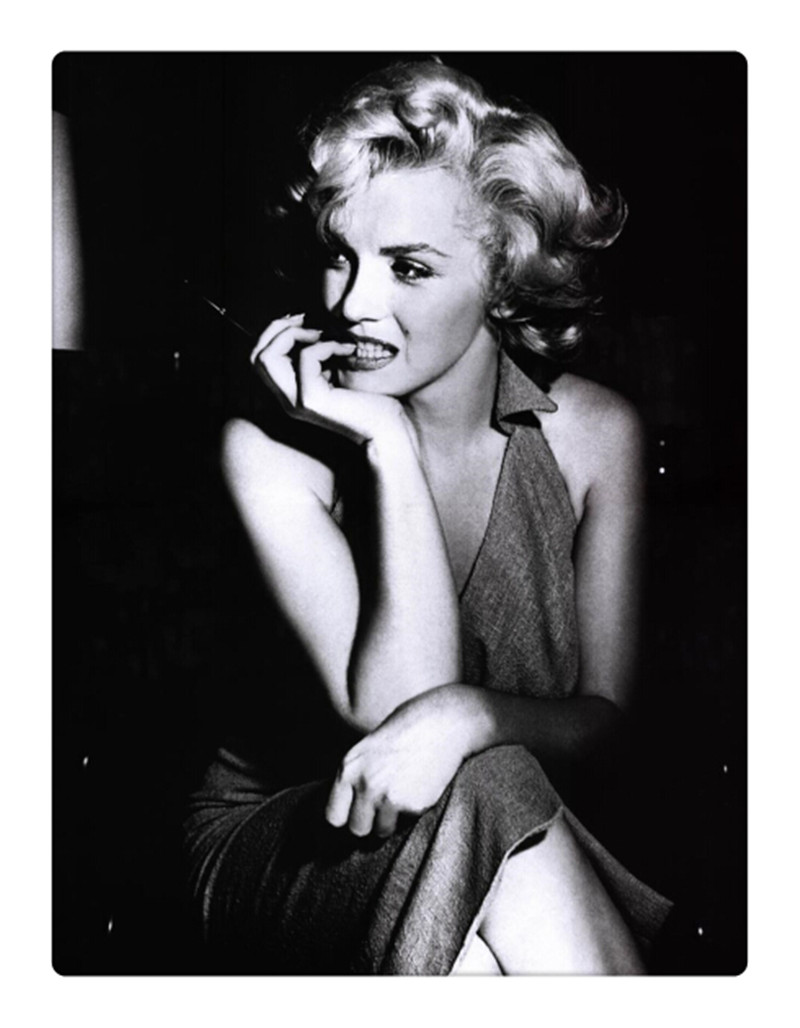 white and black sex star Marilyn Monroe photo wall picture canvas art painting stretched ready to hang framework canvas print(China (Mainland))