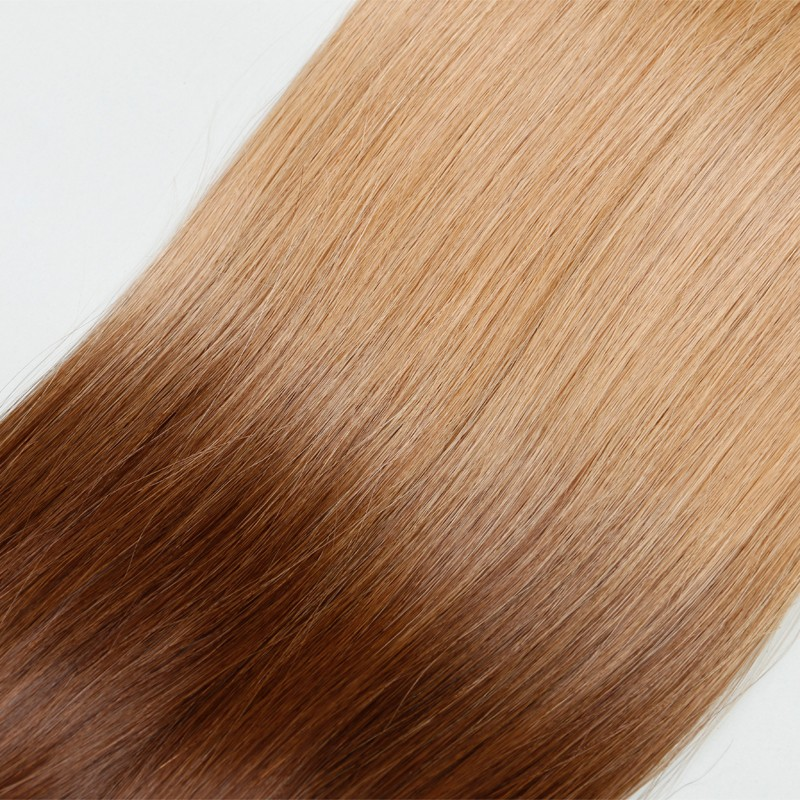 Sleek Ombre 10A Brazilian Hair Bulk Hair Best Quality Human Hair Two-Tone Colorful Hair For White Women 3pcs/lot Fast Shipping
