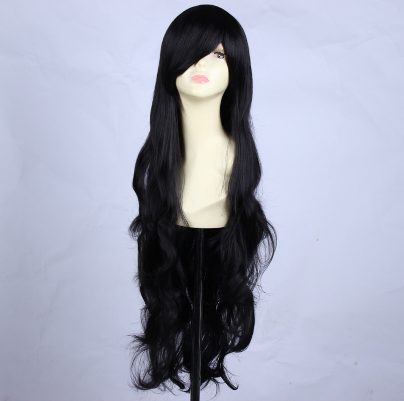 2015 Hot sell 34inch long wavy black cosplay wigs for women free shipping<br><br>Aliexpress