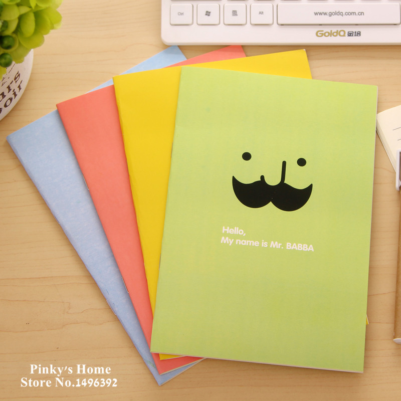 Korea A5 Cute Creative Stationery Notebook Diary Beard Notepad Students School Notebook<br><br>Aliexpress