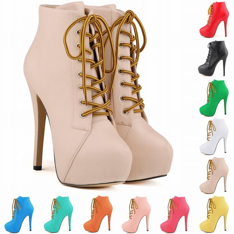 SMYNLK-0014 Fashion High Heel Ankle Boots Botines Plataforma Botas De Mujer Invierno Riding Equestrian Adult Shoes Women Heels<br><br>Aliexpress
