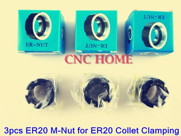 цена  Промышленная машина CNC HOME 3pcs ER20 M ER20, CNC , ER20 M-Nut  онлайн в 2017 году
