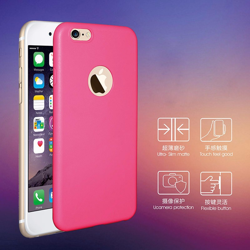 Case for iPhone 6 6s plus iPhone6/iPhone6S Cover Soft TPU Silicon Gel Coque shell with logo window
