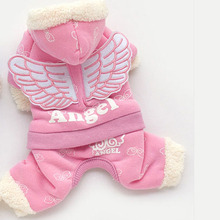 Buy New Fashion Angel Winter Dog Coat Pet Clothes Blue Pink Large Small Puppy Dogs Coat Jumpsuit Cat Costume Cotton Pet Apparel for $7.32 in AliExpress store