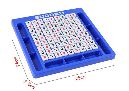 Free shipping Genuine digital puzzle game sudoku challenge children's educational toys chess squares logical thinking(China (Mainland))
