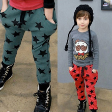 Toddler Boys Cotton Long Pants Stars Trousers Pattern Casual Pants Bottoms 6M-4Y Hot Wholesale(China (Mainland))