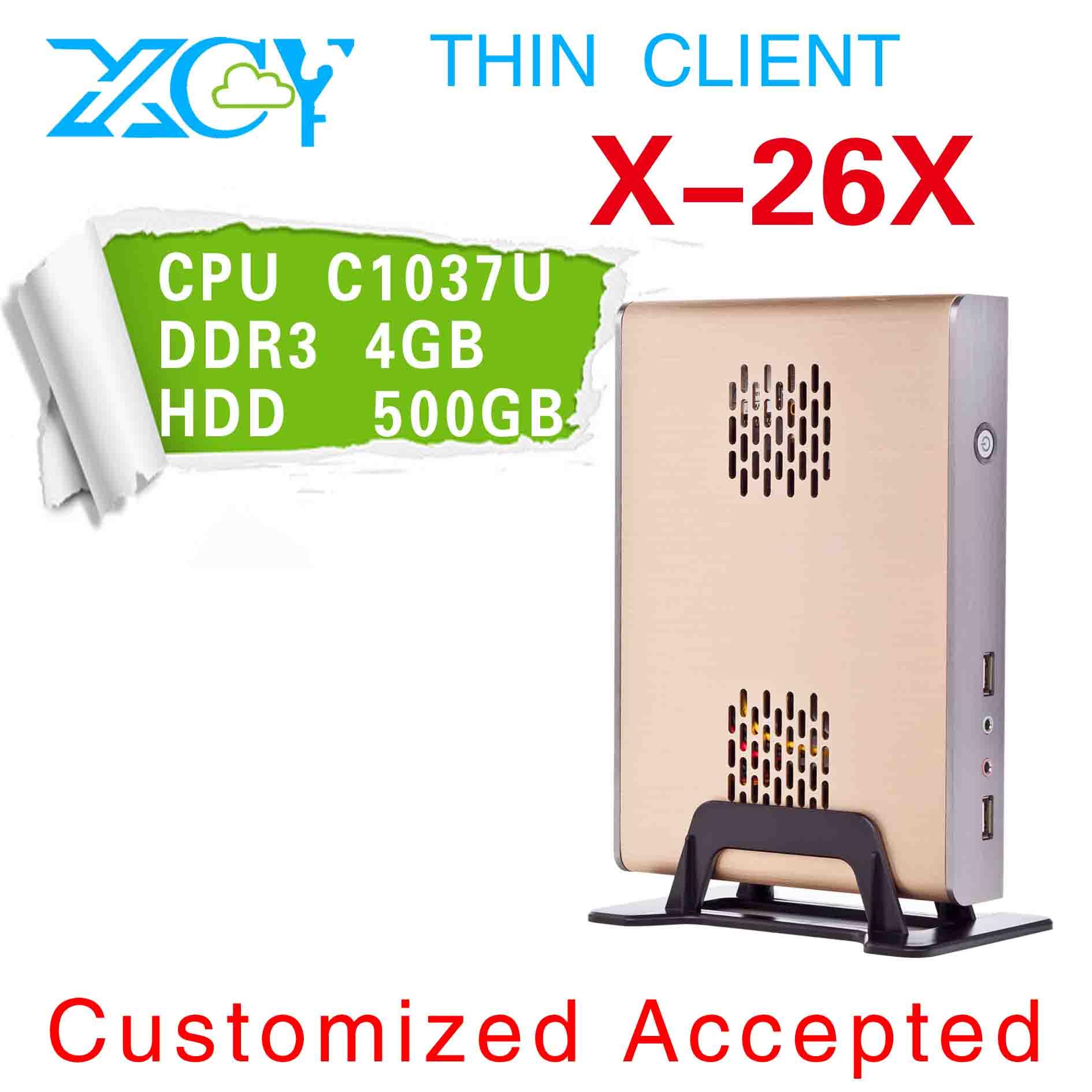 XCY X-26x slim mini itx case, htpc case mini itx case, Mini computer host, support wifi INTEL C1037U CPU(China (Mainland))