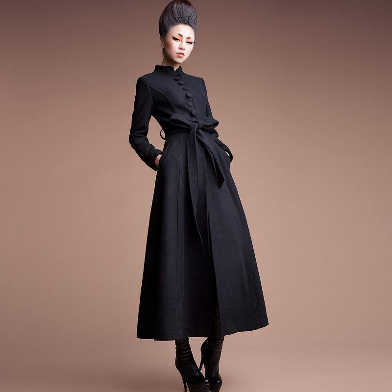 Long trench coat for women