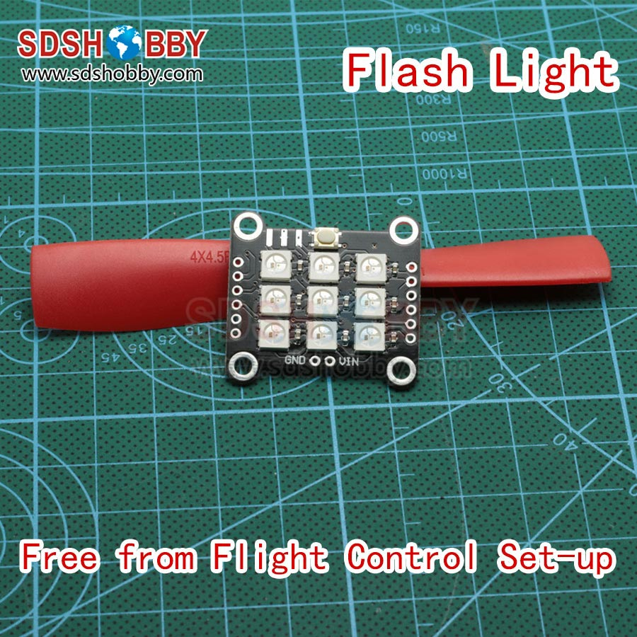 5-12V WS2812 LED Simple Flash Light Circuit Production Board DIY Night Light Free Flight Control Set Up for FPV QAV Multicopter(China (Mainland))