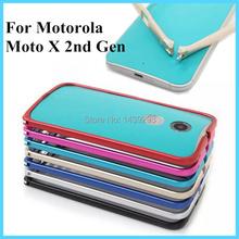 Luxury Metal Bumper Buckle Case Cover for Motorola Moto X 2014 2nd Gen X2 X+1 XT1095 XT1097 Aluminum Frame Protect Case 9 Color