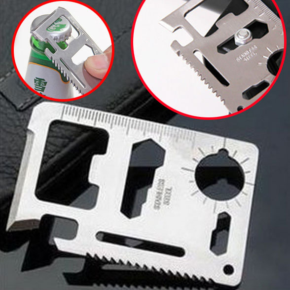 2015 New Multi Tools 11 in 1 Multifunction Outdoor Hunting Survival Camping Pocket Military Credit Card Knife Free Shipping(China (Mainland))