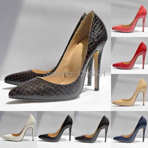 Sexy Pumps Ladies Crocodile Grain pattern pointed toe High Heels Stilettos Shoes Size US 4-11