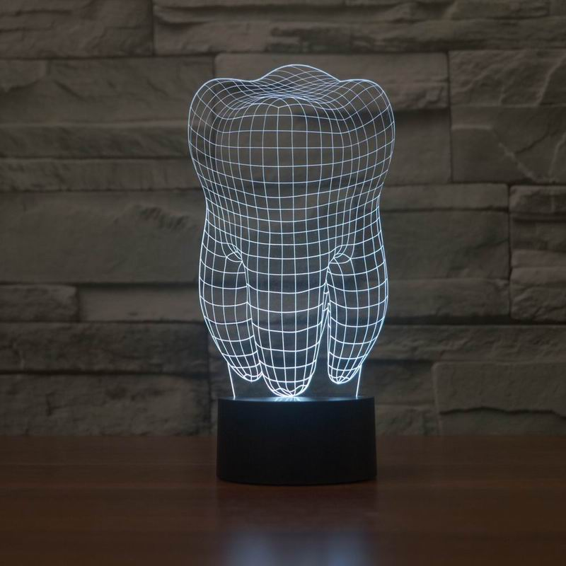free shipping 3D effect nightlight with tooth shape as gift for decoration JC-2870<br><br>Aliexpress