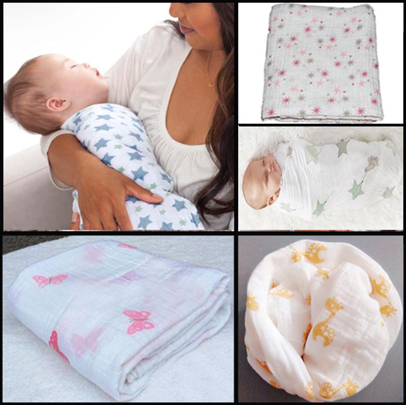 120x120 47 47 Seasons Aden Anais Muslin Newborn Baby Bath