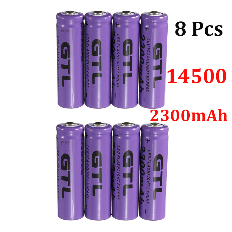 8 Pcs 14500 2300mAh 3.7V rechargeable Li - ion battery flashlight fit / equipment<br><br>Aliexpress