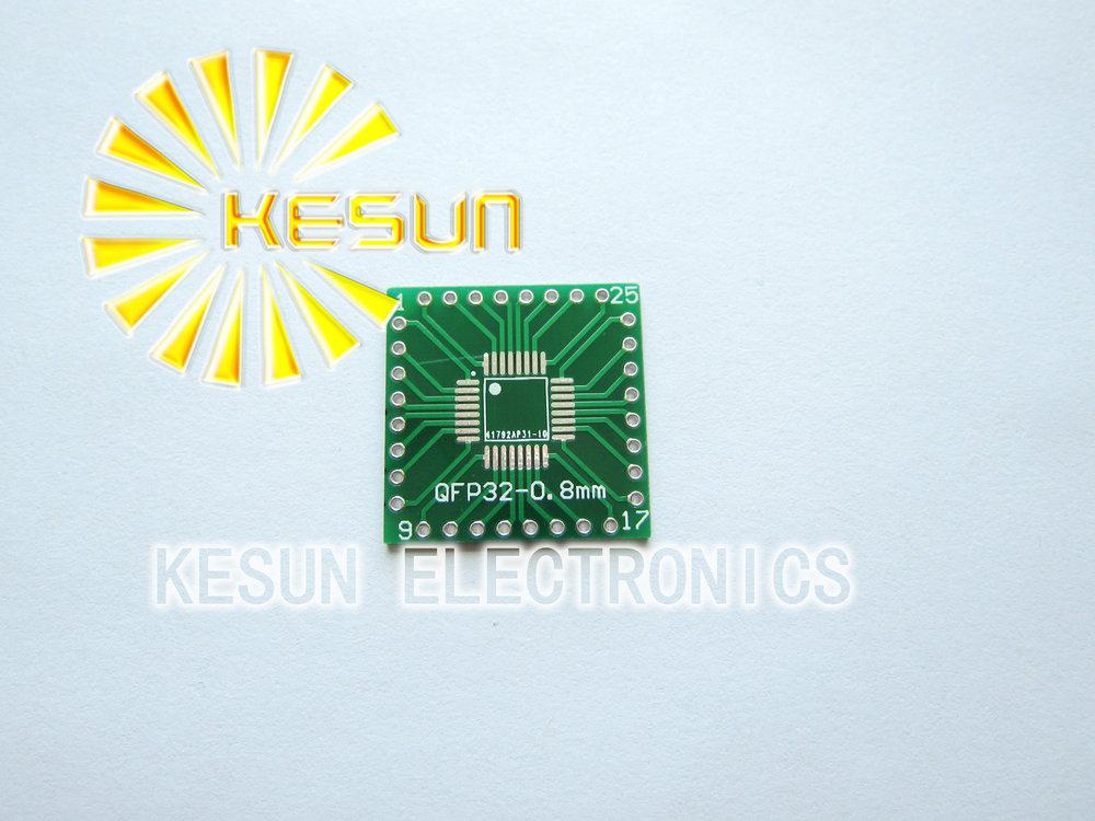 FREE SHIPPING 20PCS QFP32 QFN32 turn DIP32 0.65MM 0.8MM IC adapter Socket / Adapter plate PCB(China (Mainland))