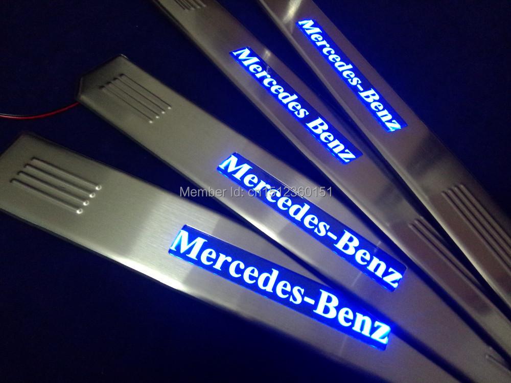 Mercedes Benz E Class Illuminated Door Sills