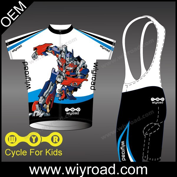Accept sample order childrens cycle jersey/kids cycling shirts/cycling clothing design child(China (Mainland))