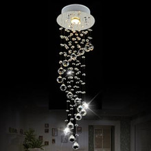 Modern Clear Waterford Spiral Sphere LED Lustre Crystal Chandeliers Ceiling Lamp Suspension Pendant Lamp luminaria home lighting(China (Mainland))