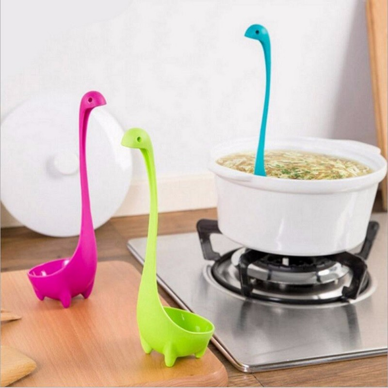 Spoons Loch Ness Monster Cartoon Kitchen Plastic Spoon Long Handled Spoon Soup Tableware Dinnerware Cooking Tools(China (Mainland))