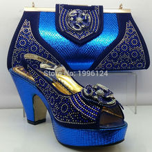 High Quality Matching Italian Shoes and Bag Set African Style Shoes and Bag Set Italy Matching Shoes and Bag for African Party(China (Mainland))