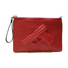 Women Leather Handbags Vlieger Vandam Rock Red Snake Print Bags 3D Pistol Bag Day Envelope Women Clutch Bag Vintage 3D Gun Bags