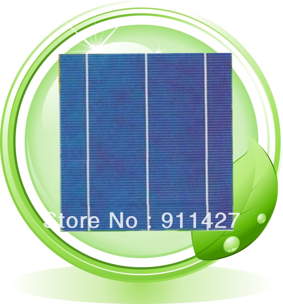 Grade A Mini100pcs Polycrystalline Solar Cell 4w 156mm