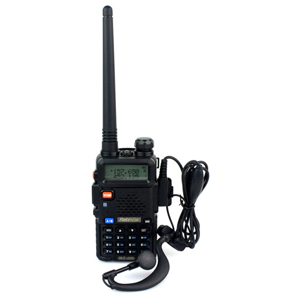 Retevis RT 5R Walkie Talkie Transceiver 5W 128CH VHF+UHF DTMF VOX Dual Band Dual Frequency Portable Radio A7105A(China (Mainland))